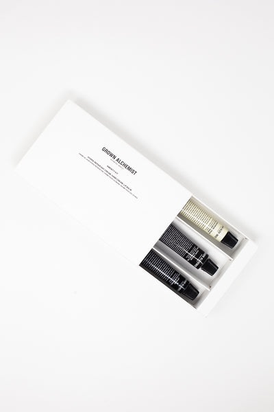 Grown Alchemist Amenity Kit  in Lip Balm, Hand Cream & Hydra-Repair Day Cream | Oroboro Store | New York, NY