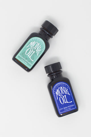 Monk Oil Mini Bottles - 1 oz.  in City Skin Potion | Oroboro Store | New York, NY