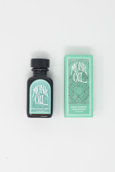 Monk Oil Mini Bottles - 1 oz.  in Palo Santo | Oroboro Store | New York, NY