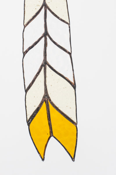 Colin Adrian Stained Glass Chevron Feather | Oroboro Store | New York, NY