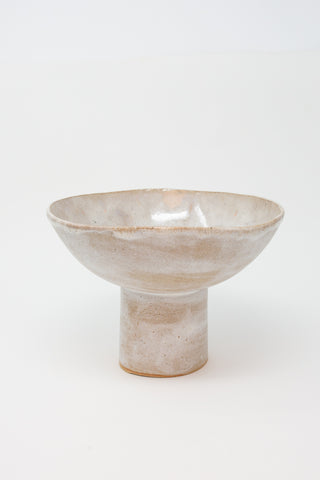 Minh Singer Large Pedestal Bowl in Northern Lights side view