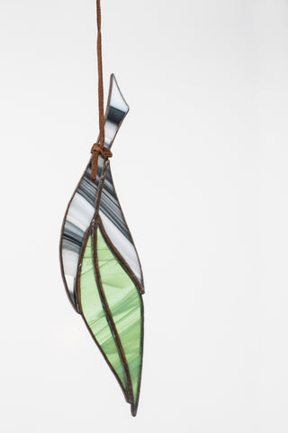 Colin Adrian Stained Glass Small Feather | Oroboro Store | New York, NY