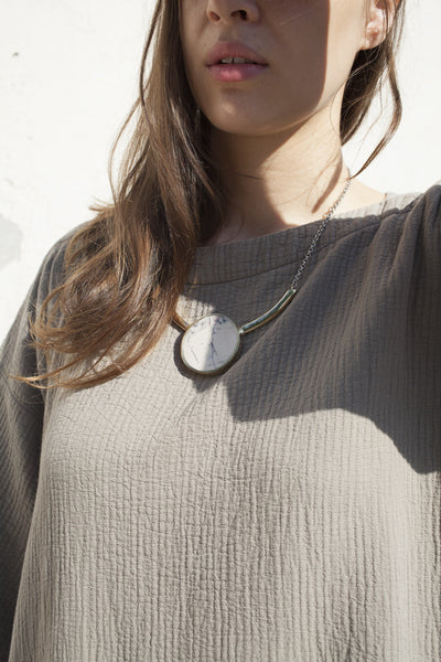 Quarry Salvador Necklace in Brace, Marble Jasper | Oroboro Store | Brooklyn, New York