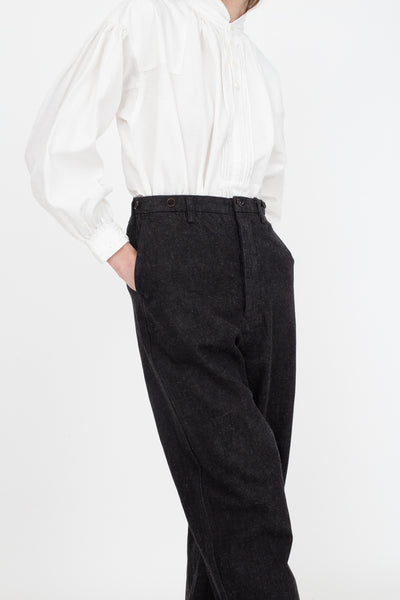 nest Robe Cotton Hemp Selvedge Denim Pants in Black | Oroboro Store | New York, NY