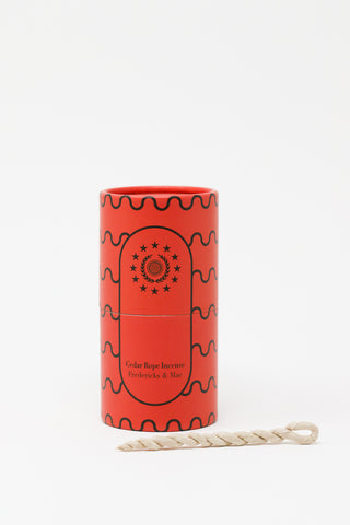 Fredericks & Mae Incense in Cedar Rope | Oroboro Store | New York, NY
