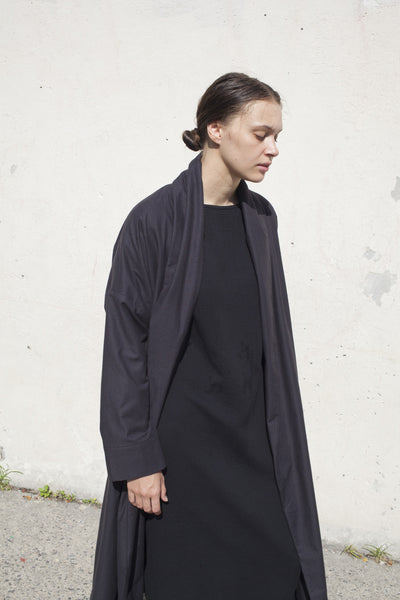 Black Crane Long Coat in Black | Oroboro Store | Brooklyn, New York