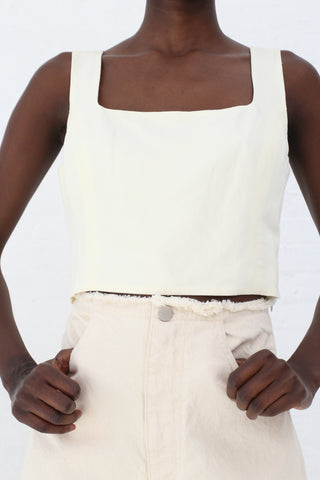 Shaina Mote Petit Top in Crema | Oroboro Store | New York, NY