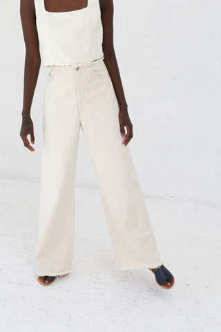Shaina Mote Nadir Pant in Natural Denim | Oroboro Store | New York, NY