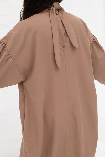 Black Crane Walnut Dress in Camel Tencel/Cotton | Oroboro Store | New York, NY