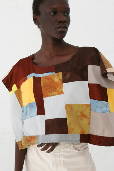 Jess Feury Patchwork Folk Overlay Crop in Multi | Oroboro Store | New York, NY