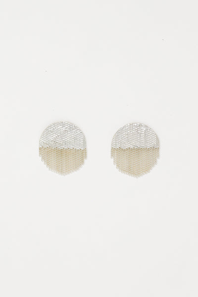 Hannah Keefe Half Circle Studs in Silver