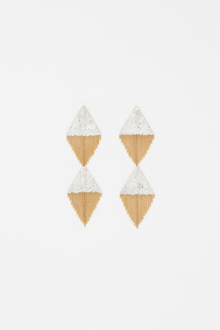 Hannah Keefe D&D Earrings in Brass/Silver