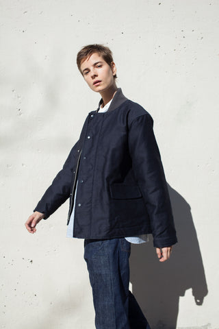 Chimala Unisex Vintage Deck Jacket in Navy | Oroboro Store | Brooklyn, New York