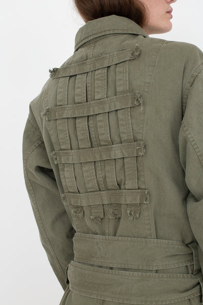 Bernhard Willhelm Jacket in Green, Back View Cropped