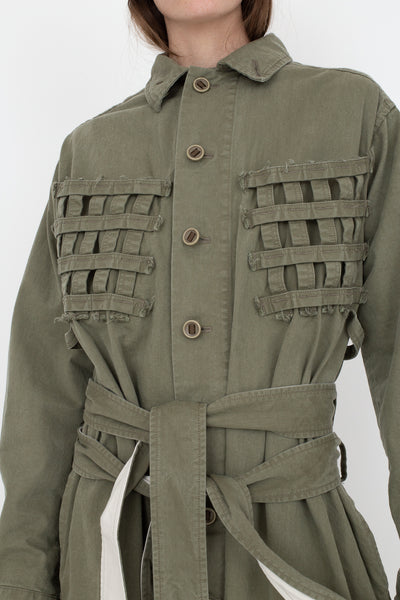 Bernhard Willhelm Jacket in Green, Front View Cropped of Chest