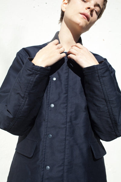 Unisex Vintage Deck Jacket in Navy