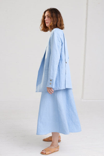 Nehera Joma Jacket in Baby Blue on model view side