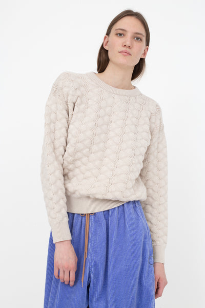 Bernhard Willhelm Sweater in Ecru | Oroboro Store | New York, NY