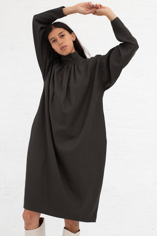 Black Crane Walnut Dress in Dark Grey Tencel/Cotton | Oroboro Store | New York, NY