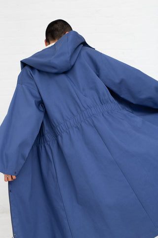 Samuji Carlyle Carrigan Coat in Blue | Oroboro Store | New York, NY
