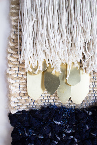 Navy & Ceramic Wall Hanging