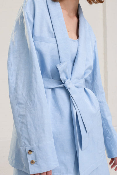 Nehera Joma Jacket in Baby Blue on model view front