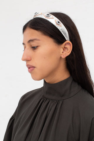 Robin Mollicone Headband in Onyx Eyes | Oroboro Store | New York, NY
