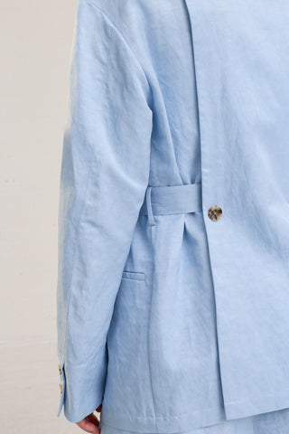 Nehera Joma Jacket in Baby Blue on model view back detail