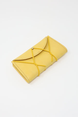 Eatable of Many Orders Eiffel Wallet in Yellow | Oroboro Store | New York, NY