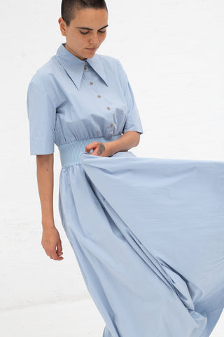 Samuji Dusty Dustine Dress in Light Blue | Oroboro Store | New York, NY