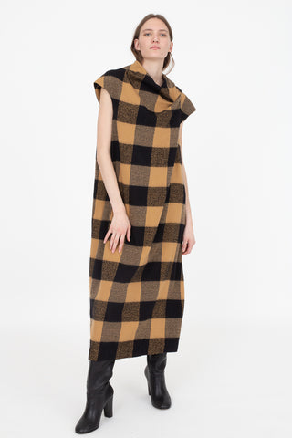Bernhard Willhelm Dress in Brown and Black | Oroboro Store | New York, NY