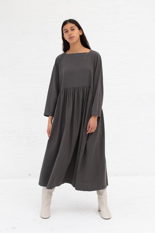 Black Crane Tradi Dress in Dark Grey | Oroboro Store | New York, NY