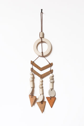 Heather Levine Small Wall Hanging in Natural & Brown | Oroboro Store | New York, NY