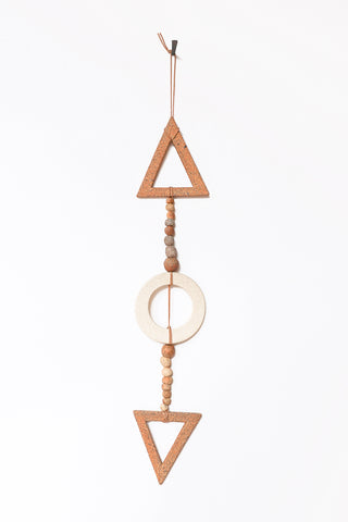 Heather Levine Small Wall Hanging in Natural & Tan | Oroboro Store | New York, NY