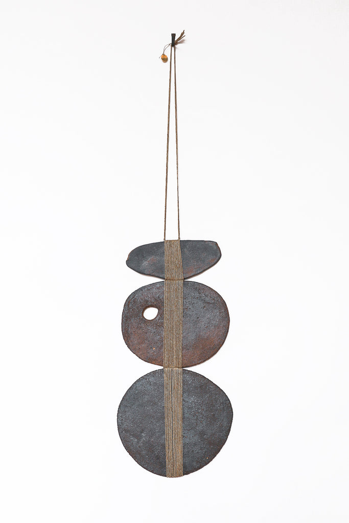 Amy Dov Ceramic Wall Hanging in Eel River Dark Brown | Oroboro Store | New York, NY