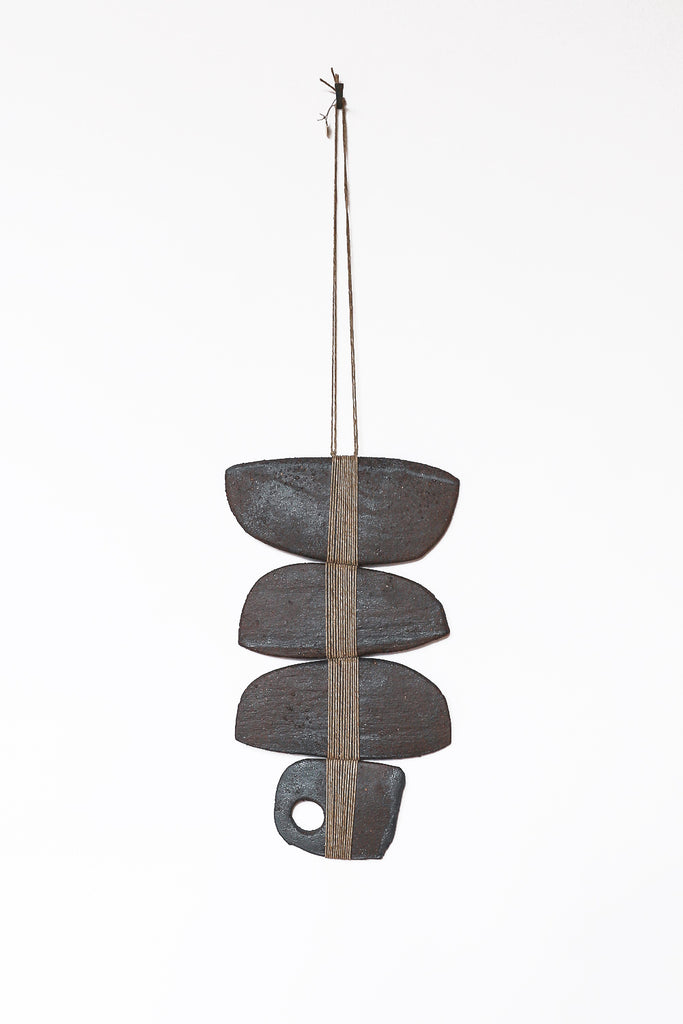 Amy Dov Ceramic Wall Hanging in Cusco Dark Brown | Oroboro Store | New York, NY