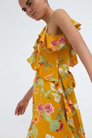 Beatrice Valenzuela Alcatraz Dress in Saffron | Oroboro Store | New York, NY