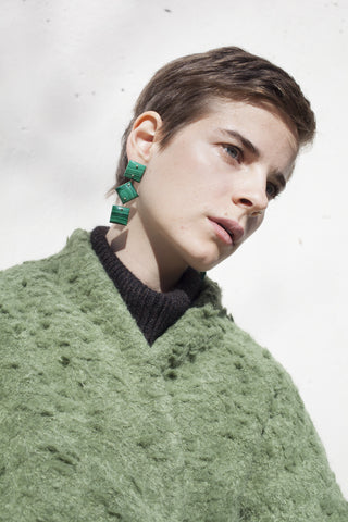 Jessica Winzelberg Malachite Earrings | Oroboro Store | Brooklyn, New York