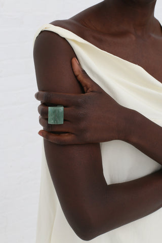 Kathleen Whitaker Rock Ring in Aventurine - 6 | Oroboro Store | New York, NY