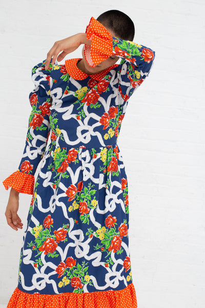 Batsheva Peter Pan Floral Dress in Blue Rose | Oroboro Store | New York, NY