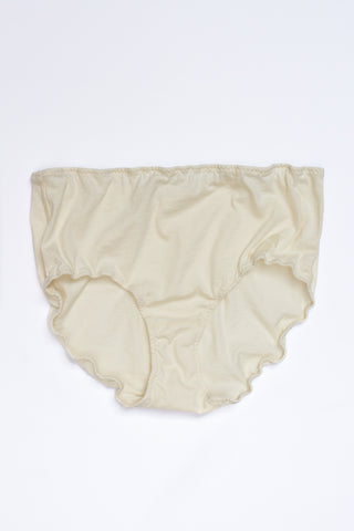 Lauren Manoogian X Pansy Cashmere High Rise Panty in Bone | Oroboro Store | New York, NY