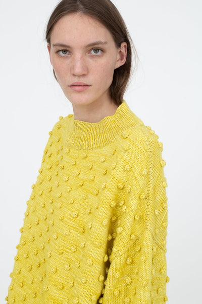 Misha and Puff Popcorn Sweater in Dijon | Oroboro Store | New York, NY