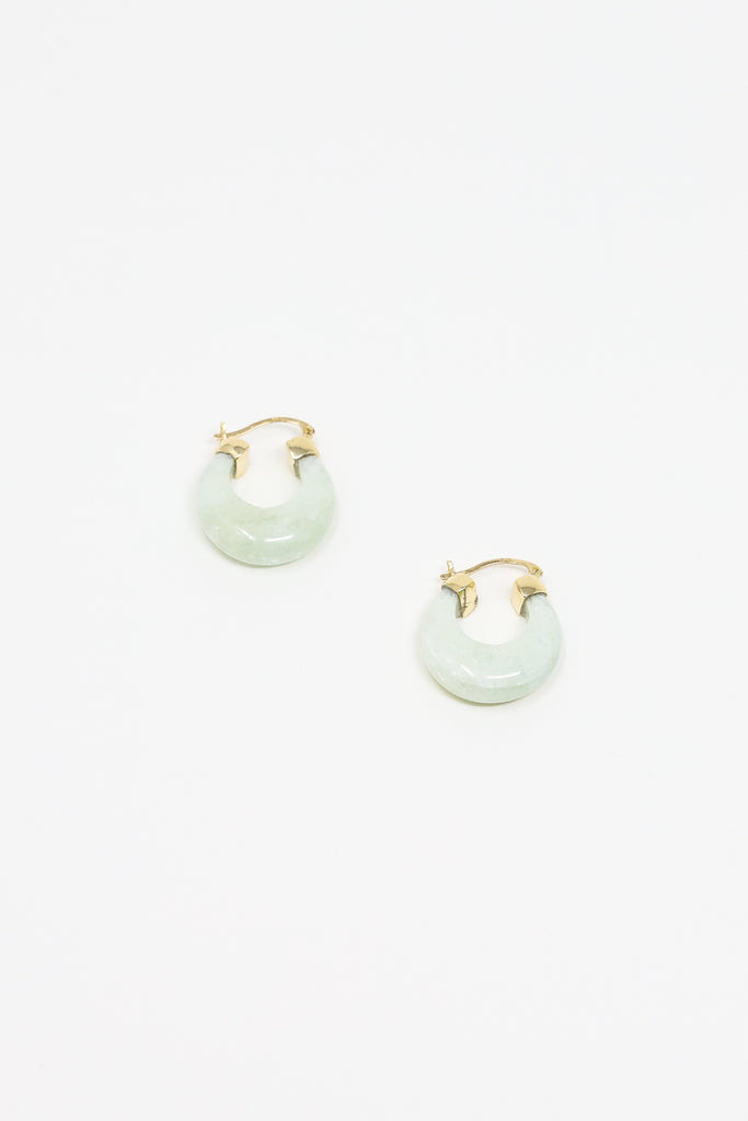 J Hannah Glace Hoops in Aquamarine and Gold | Oroboro Store | New York, NY