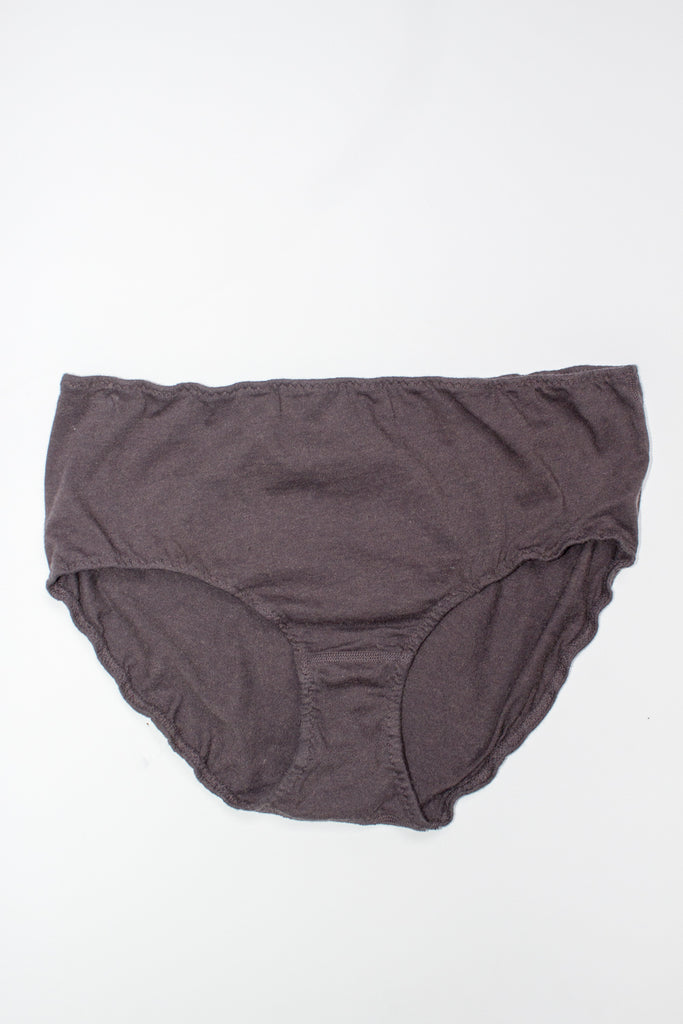 Pansy for Lauren Manoogian Cashmere High Rise Panty in Carbon