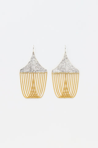 Hannah Keefe Chandelier Earrings in Brass | Oroboro Store | New York, NY