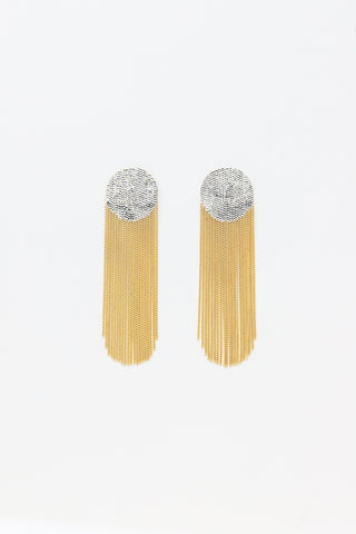 Hannah Keefe Dot Earrings in Brass | Oroboro Store | New York, NY