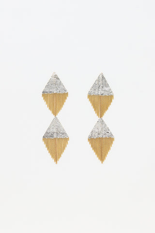 Hannah Keefe D & D Earrings in Brass | Oroboro Store | New York, NY