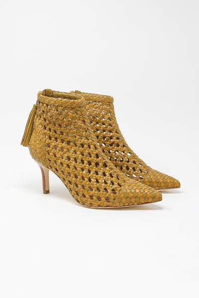 Ulla Johnson Selene Bootie in Olive | Oroboro Store | New York, NY