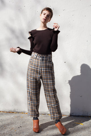 Veronique Leroy Baggy Trousers in Cognac | Oroboro Store | Brooklyn, New York