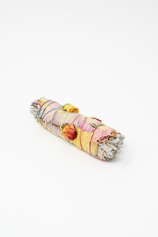 Catherine Rising Large Floral Smudge Stick in Sage & Wildflowers | Oroboro Store | New York, NY